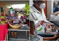 Agrónomos amigos Colima entrega cáretas en Tecomán y concientiza a la población