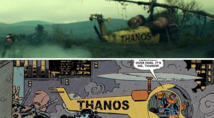 El helicóptero que Thanos manejaba dentro de sus primeras apariciones en Marvel
