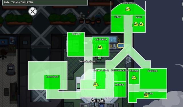 Mira todas las actividades que puedes realizar en el mapa Mira HQ.  (Foto: Among Us)