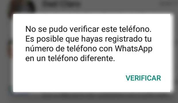 Este es el texto que aparece en tu WhatsApp cuando algún desconocido te ha hackeado la cuenta. (Foto: MAG)