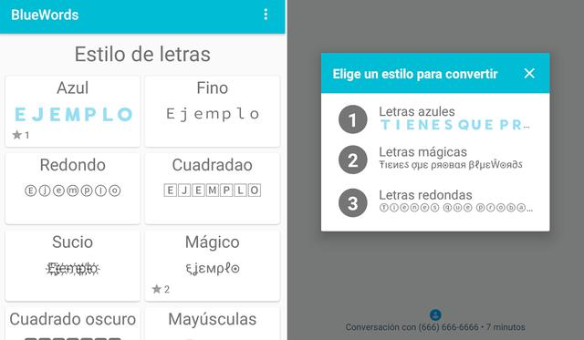 Así es como funciona BlueWords, la app que te permite cambiar de color a tu texto de WhatsApp. (Foto: Mag)