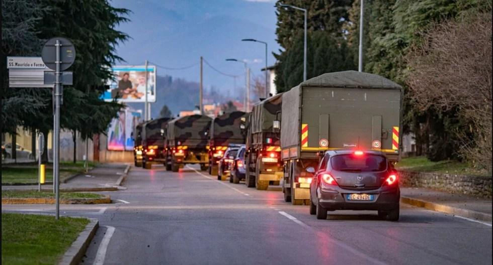 Resultado de imagen para camiones militares italia muertos