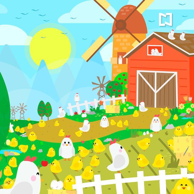 Encuentra los diez objetos perdidos en esta granja de pollitos.  (Televisa)