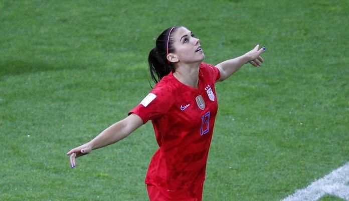 Women's world: The talented Alex Morgan, scored 5 goals and gave three assists in win 13-0 united States