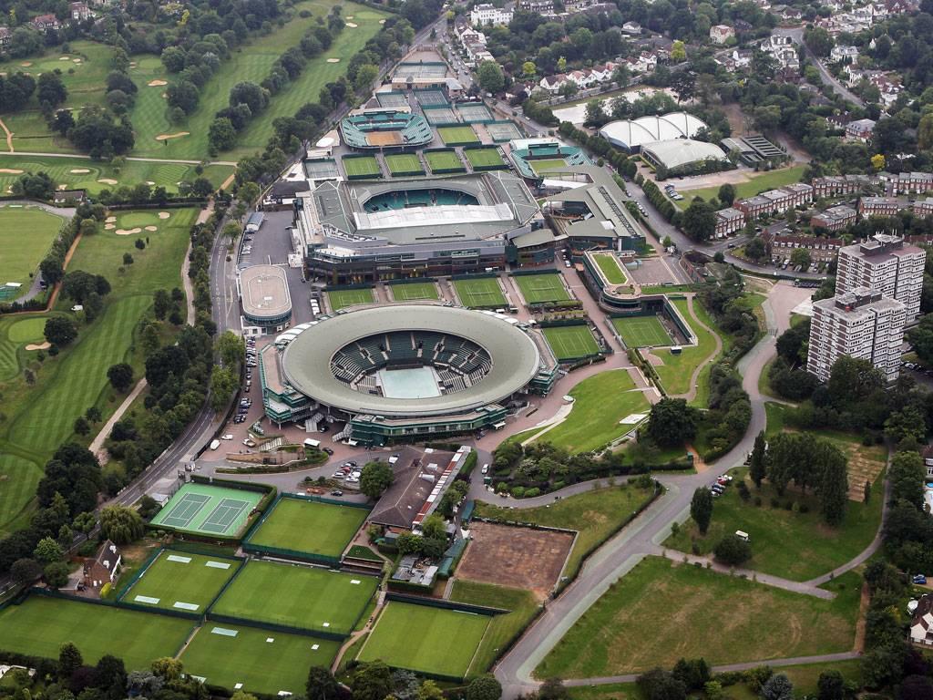 Wimbledon a vista de pájaro, una visita obligada para los amantes del tenis.