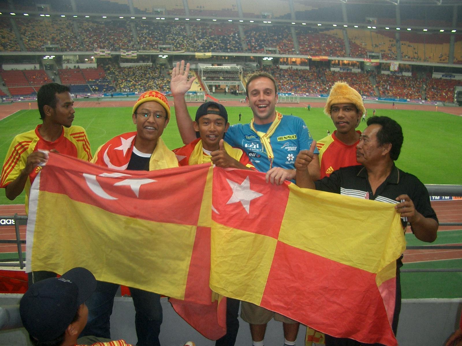 El estadio Nacional Bukit Jalil en Malasia es el quinto más grande del mundo y uno de los que más ha impresionado a Gerardo.