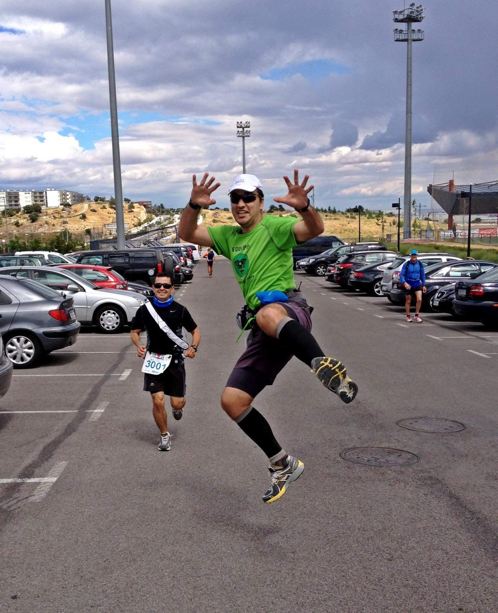 Completar el reto provocan momentos de euforia como estos (Foto: Alberto Barrantes).