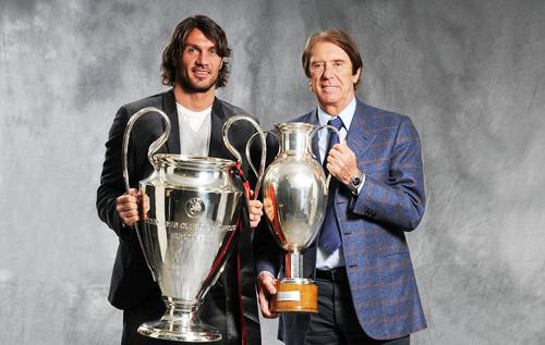 Cesare y Paolo Maldini son la saga más exitosa del fútbol italiano.