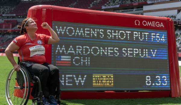 #Tokio2020: Francisca Mardones consigue el tercer oro paralímpico para Chile con record mundial