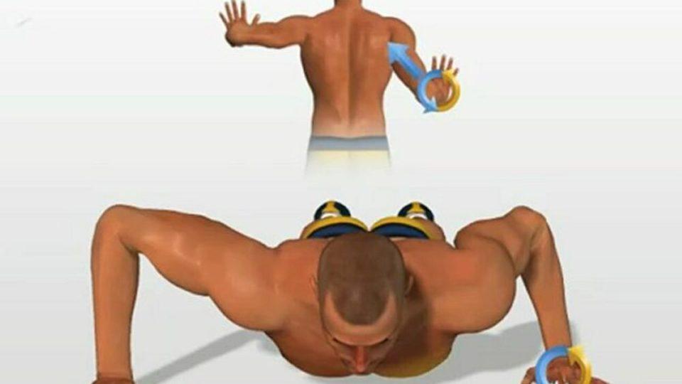 Flexiones espartanas como ejercicio de pecho con peso corporal