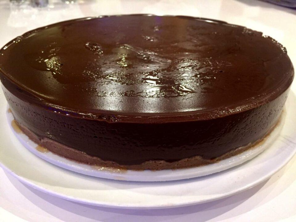 recetas de tartas sin azúcar, tarta de chocolate con frutos secos