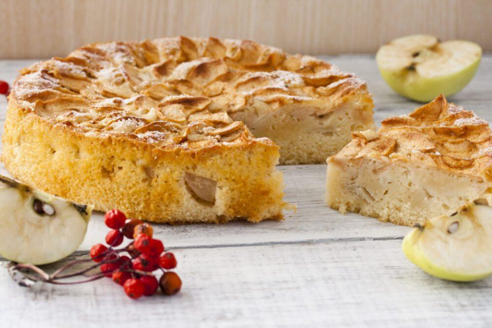 recetas de tartas sin azúcar, tarta de manzana