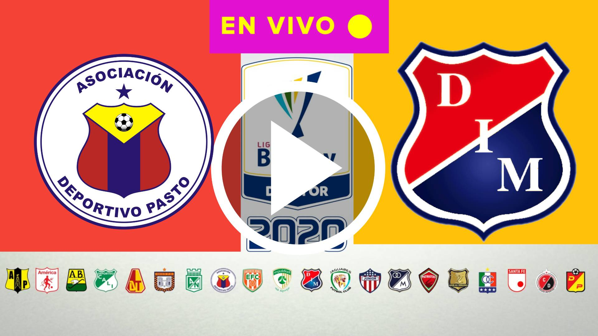 HOY AQUI LIGA BETPLAY 2020 Deportivo Pasto - Medellín