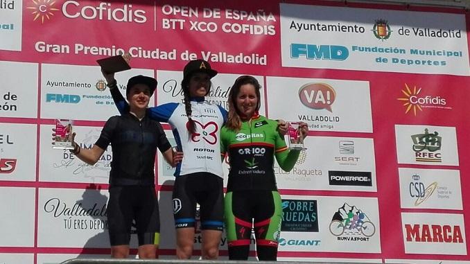 Rocío Martín es tercera en Valladolid en el Open de España XCO