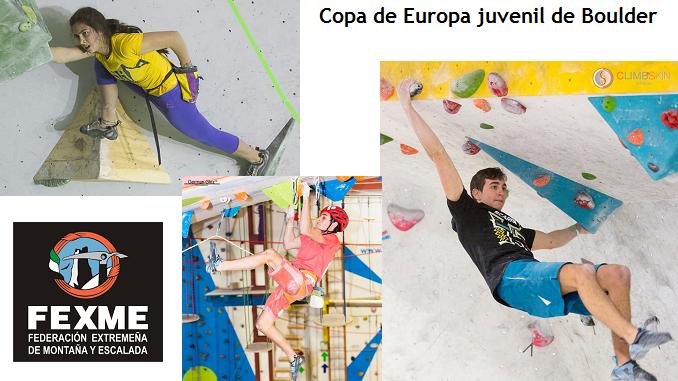 Convocatoria de la Selección Española para Copa de Europa juvenil de Boulder