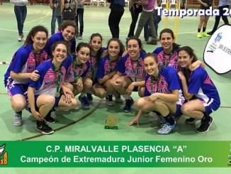 Rueda Mira San Antonio Cáceres y Miralvalle Plasencia, CAMPEONES JUNIOR