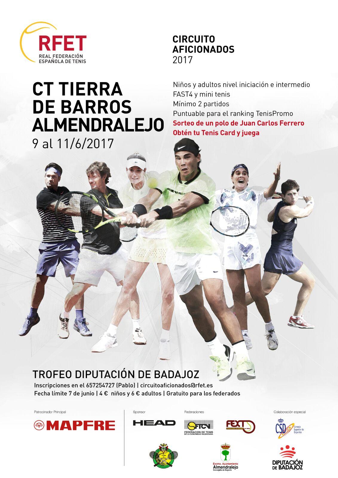Fin de semana de Campeonatos de Extremadura y Circuito de Aficionados de Tenis FEXT