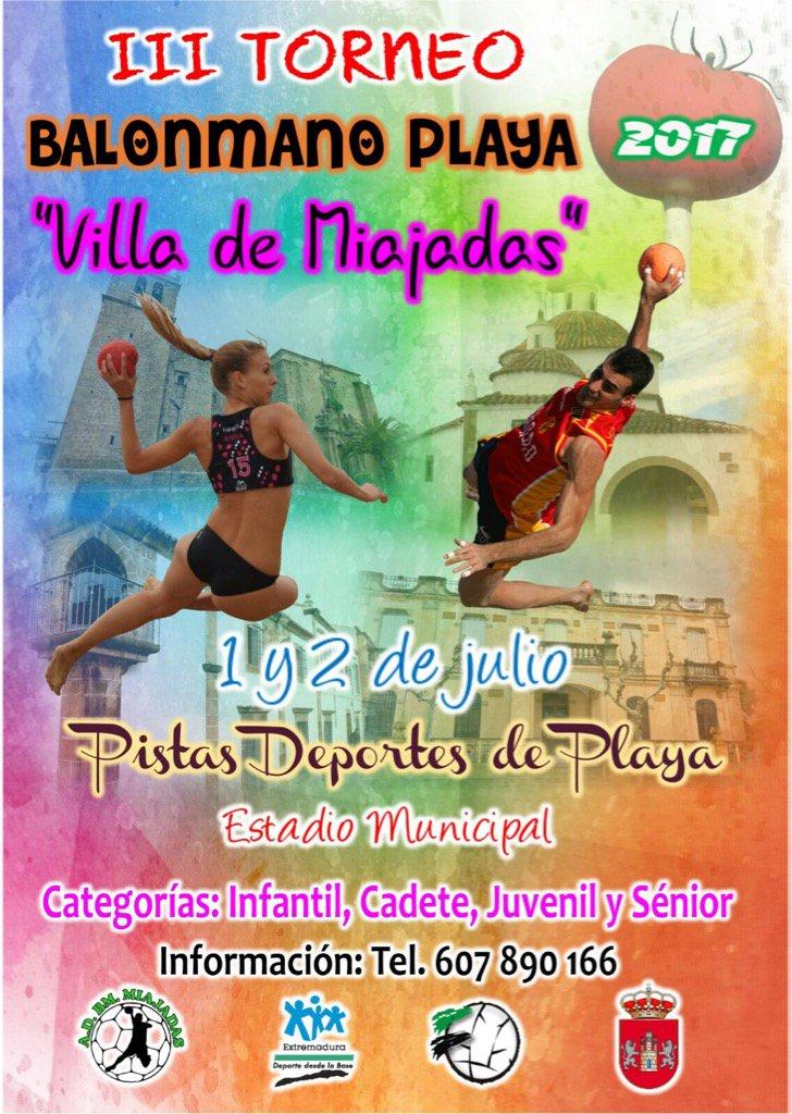 """III edición del Torneo de balonmano playa """"Villa de Miajadas"""""""