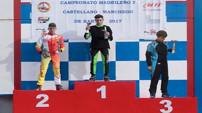 Miguel Grande se mantiene segundo del regional del Campeonato de Karting Madrileño y Castellano-Manchego