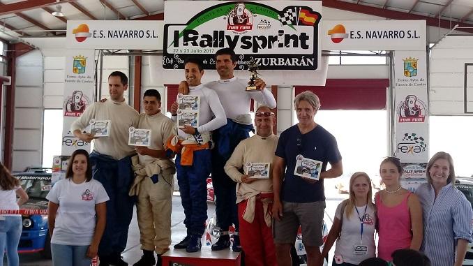 Casimiro y Ortiz estrenan el palmarés de victorias en el I Rallysprint Zurbarán - General