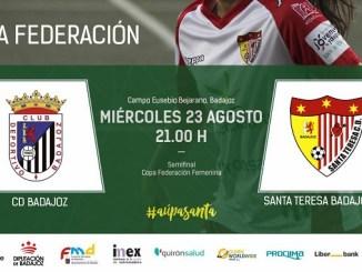 CD Badajoz – Santa Teresa Badajoz en semifinales de Copa Federación