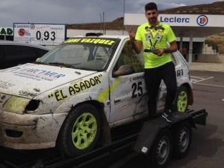 Jonathan Vázquez segundo clasificado y líder del nacional en el Autocross Ciudad de Miranda