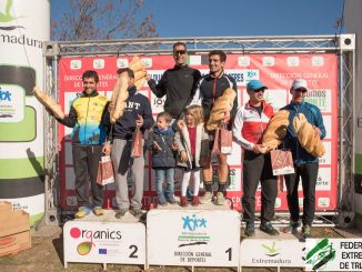 Podium Parejas Duatlón Cros Casar de Cáceres 2017