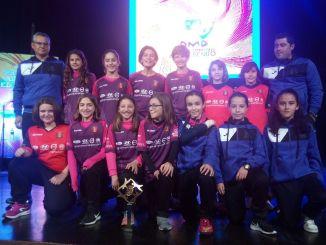 Féminas Don Benito Fútbol Club premio al Ejemplo Deportivo en los Premios Alabán 2018