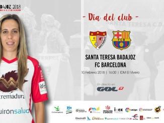 El Santa Teresa Badajoz - FC Barcelona, designado como Día del Club