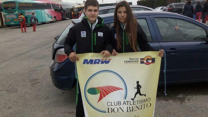 María y Gerard del Club Atletismo Don Benito estuvieron en el Cto. España de Campo a Través por Comunidades