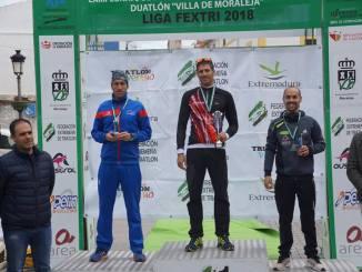 Montero y Lozano se proclaman campeones de Extremadura de Duatlón