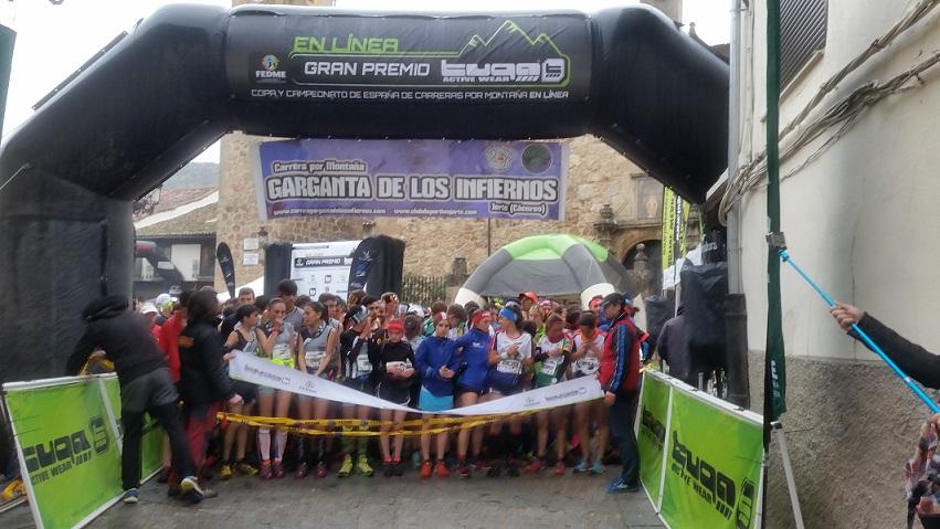 Segunda prueba de Copa de España de Carreras por Montaña en línea celebrada en Jerte