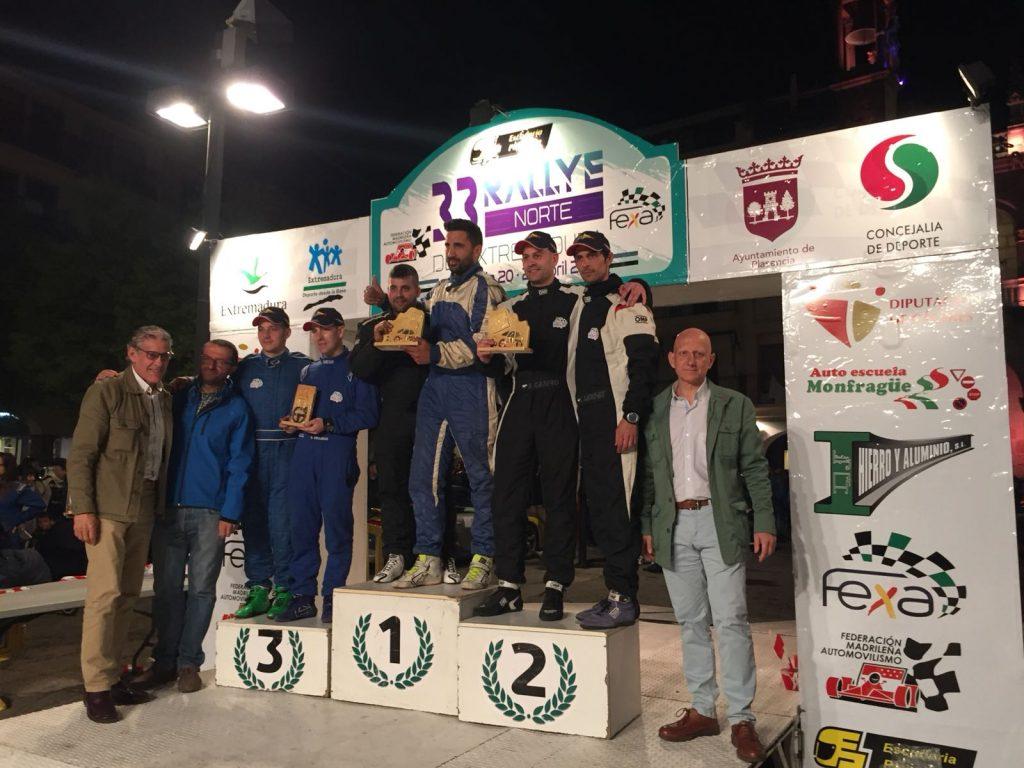 Podio Challenge - El Extremadura Rallye Team de notable en el Rallye Norte de Extremadura