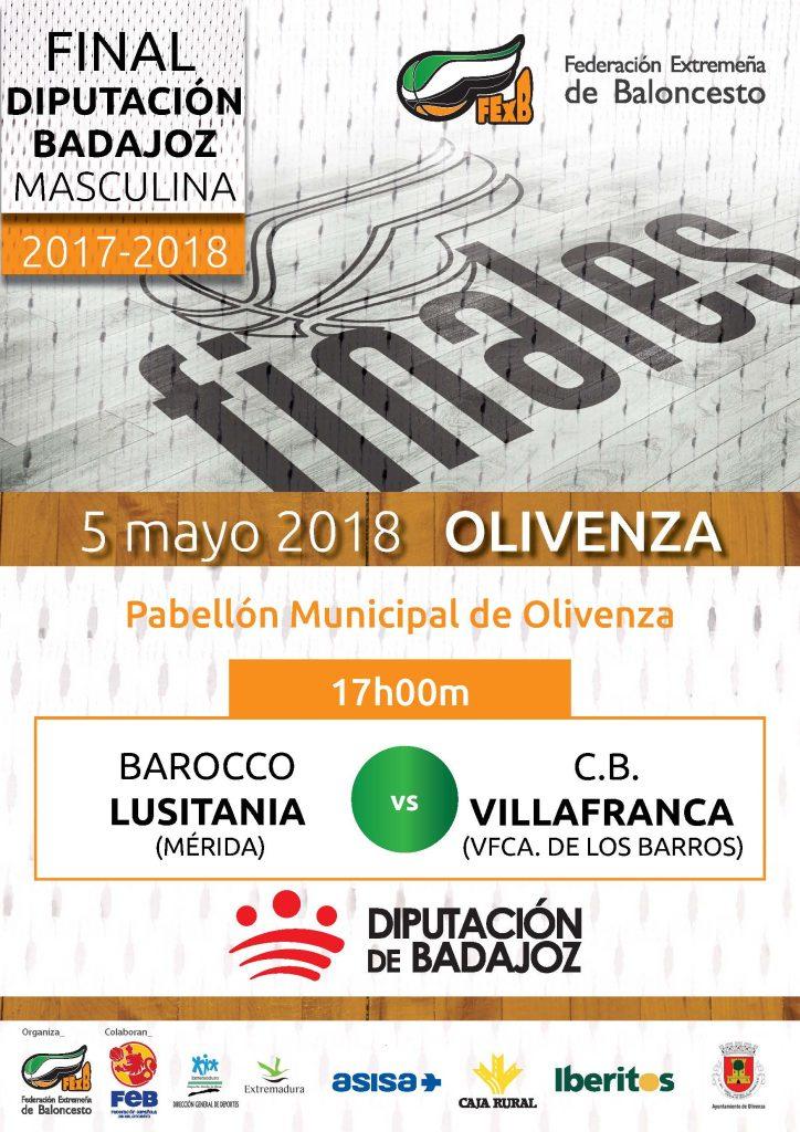 Finales de la temporada 2017/2018 en categorías masculina y femenina el sábado 5 de mayo