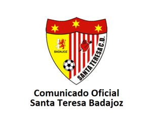 Comunicado Oficial Junta Directiva Santa Teresa Badajoz