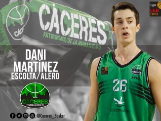 El Cáceres confía en su particular escolta, alero y base, Dani Martínez