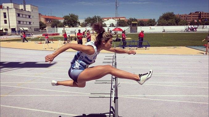 Jara García consigue el récord de Extremadura con el equipo de relevos de 4x100 en Granollers