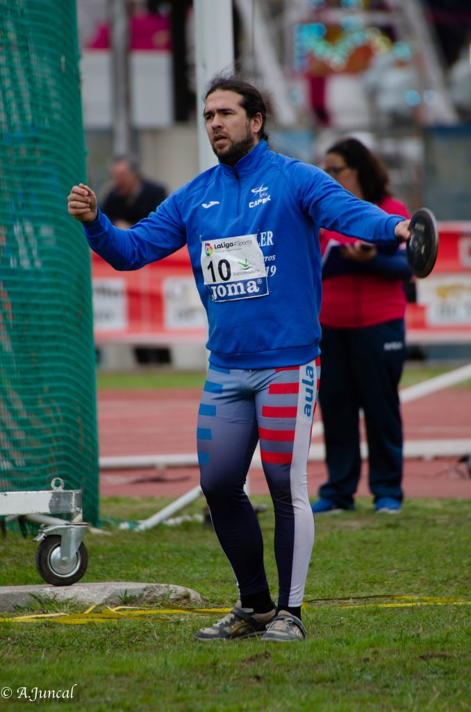 Miguel Lázaro Campeón de España Máster M35 en Lanzamiento de Disco