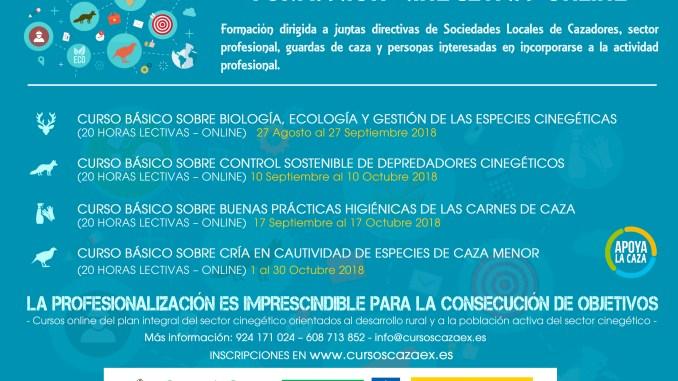 Extremadura lanza por primera vez una oferta de cursos gratuitos orientados a la profesionalización del sector de la caza