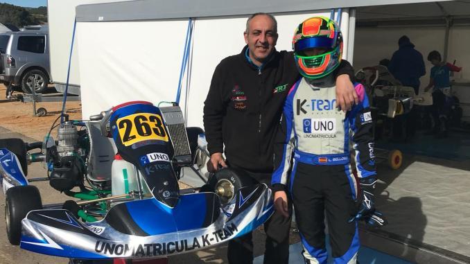 El cacereño Luis Belloso en la última cita del Campeonato de Europa de Karting