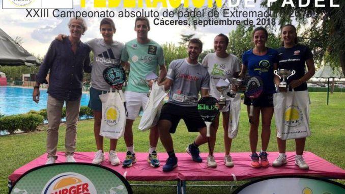 Paula Josemaria, Chica de la Cruz, Teo Zapata y José A. García Diestro nuevos campeones absolutos de Extremadura 2018