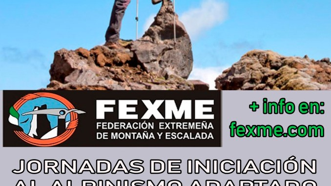 Jornadas de Iniciación al Montañismo Adaptado organizadas por FEXME