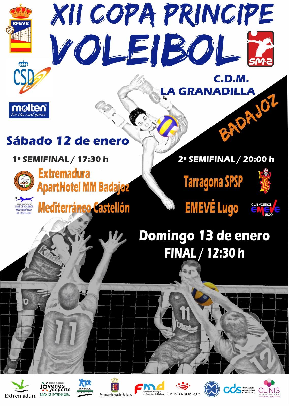 El Pabellón La Granadilla se prepara para un fin de semana histórico de voleibol en Badajoz