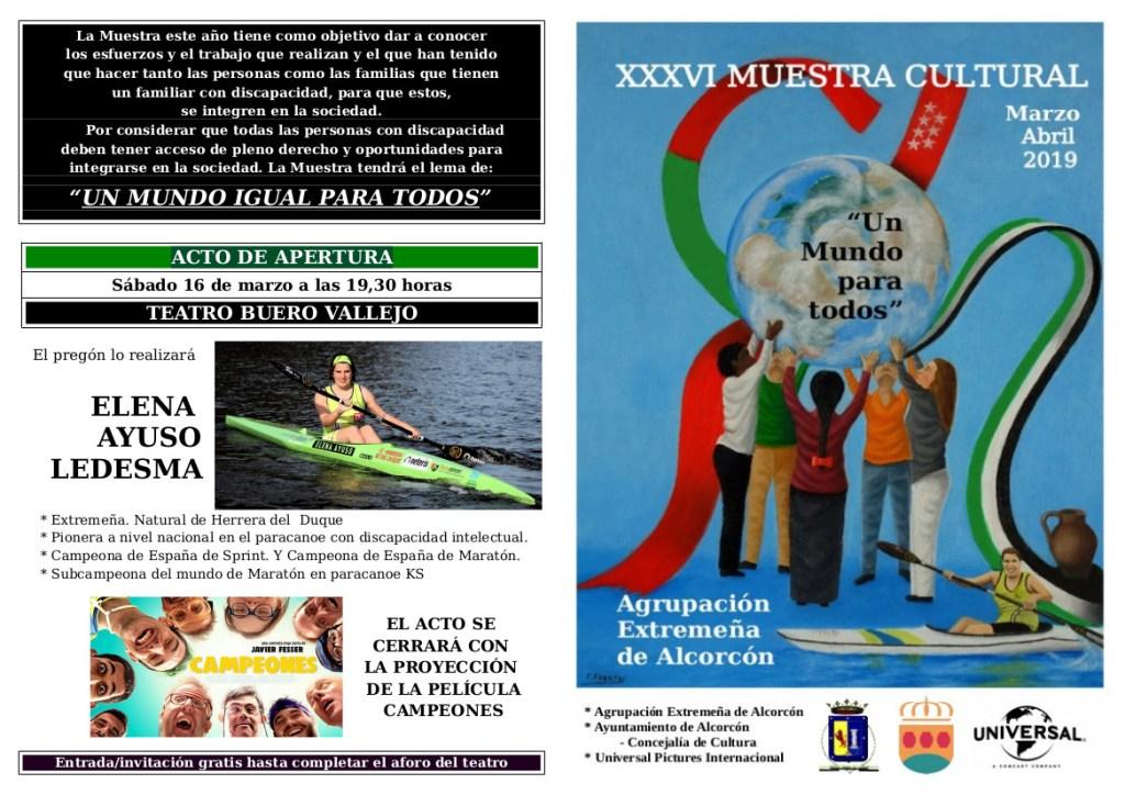 Elena Ayuso realizará el pregón de la XXXVI Muestra Cultural en Alcorcón