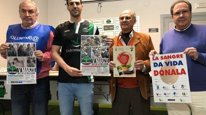 El Cáceres presenta el V Marzo Mes de la Inclusión
