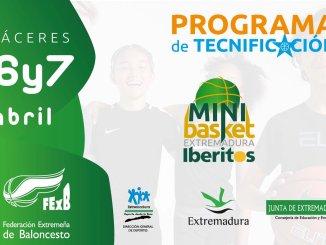 """Torneo de Minibasket de Selecciones Autonómicas """"CAJA RURAL DE EXTREMADURA"""" en Cáceres en el Pabellón del CNT Ciudad Deportiva"""