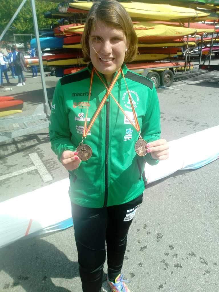 Oro por partida doble de Elena Ayuso en Trasona