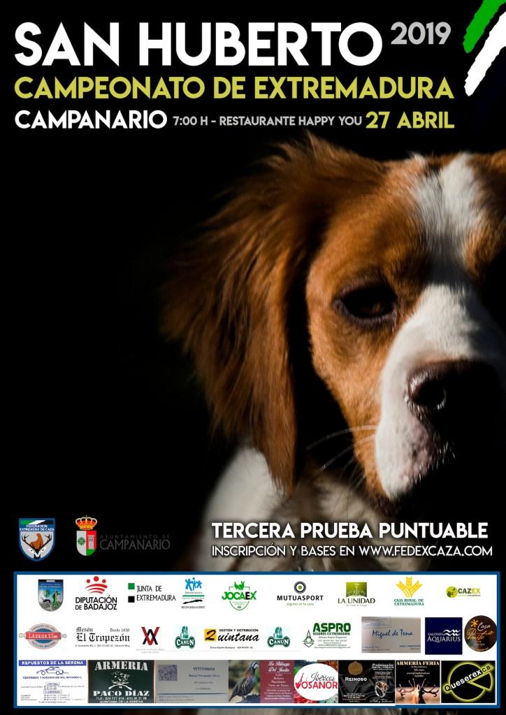 Campanario acoge el 27 de abril la tercera y última prueba puntuable del Campeonato de Extremadura de San Huberto