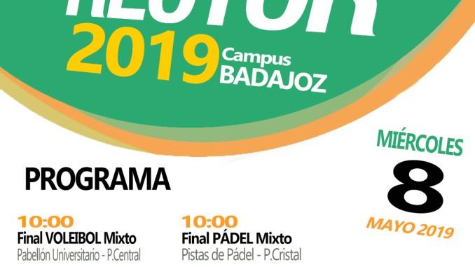 Finales Trofeo Rector en las Instalaciones Deportivas del Campus de Badajoz