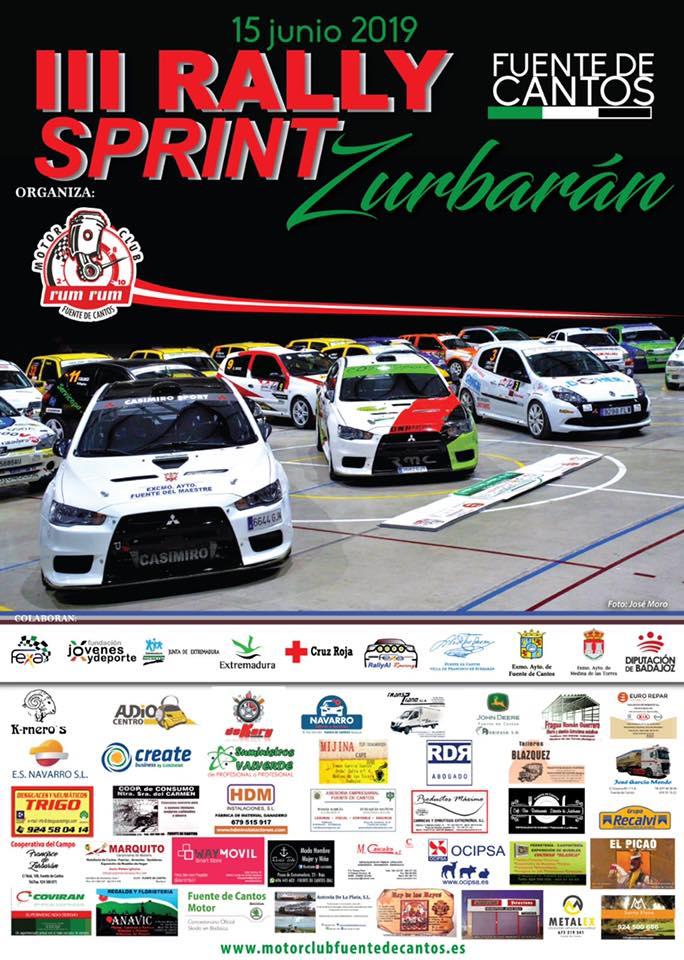 El regional de asfalto cumple su cuarta cita con el Rallysprint Zurbarán- Fuente de Cantos